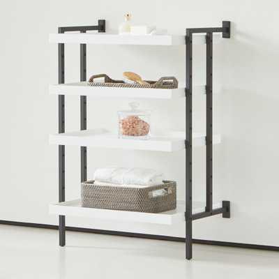 "Flex Modular 24"" 4-Shelf Half Bookcase - Crate and Barrel"