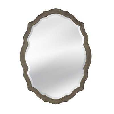 Rayshawn Distressed Wooden Wall Mirror - Wayfair