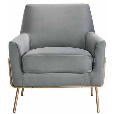 Mayo Modern Armchair- Light Gray - Wayfair