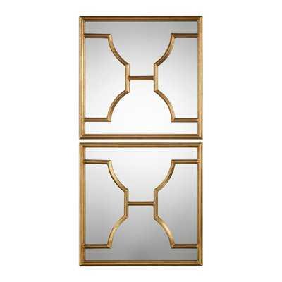 Transitional Square Accent Mirror Set - Wayfair