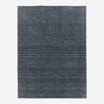 Graduated Dot Rug, Navy, 8'x10' - West Elm