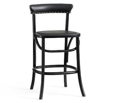Lucas Barstool, Counter Height, Black - Pottery Barn