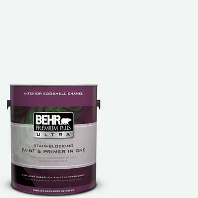 BEHR Premium Plus Ultra 1-gal. #BL-W9 Bakery Box Eggshell Enamel Interior Paint - Home Depot