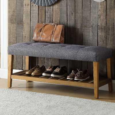 Warwickshire Wood Storage Bench - Wayfair