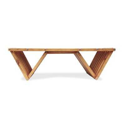 Darcus Wooden Coffee Table - Wayfair