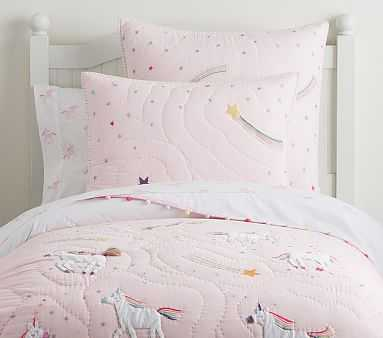 Rainbow Unicorn Quilt, Twin, Pink - Pottery Barn Kids