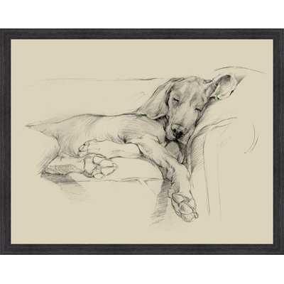 'Dog Days I' Framed Drawing Print - Birch Lane