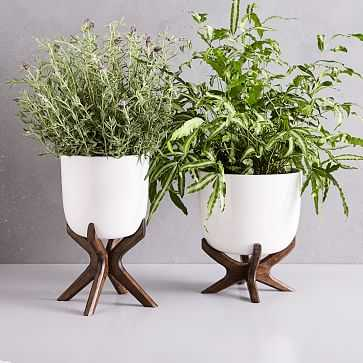 Wright Standing Planter, Short - West Elm
