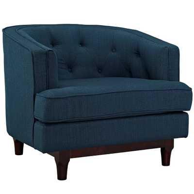 Coast Upholstered Armchair Azure (Blue) - Modway - Target