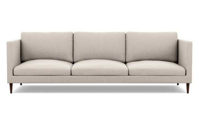 Oliver Sofa with Beige Linen Fabric and Oiled Walnut legs - Interior Define