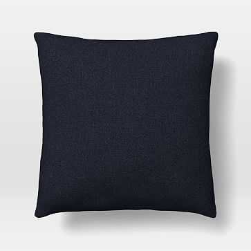 "Pillow Cover, 20""x20"" Square Pillow, Twill, Black Indigo - West Elm"