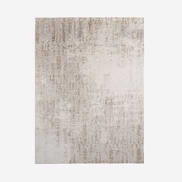Distressed Foliage Rug, Platinum, 9'x12' - West Elm