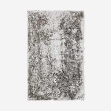 Glam Shag Rug, Platinum, 5'x8' - West Elm
