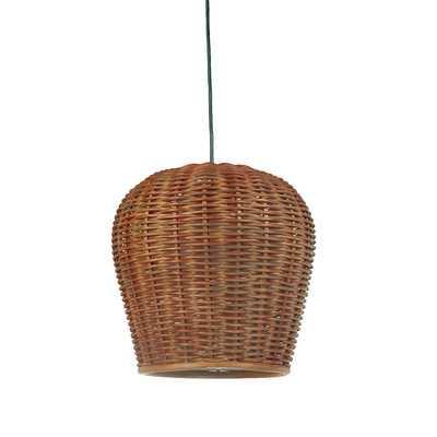Handwoven 1-Light Bell Pendant - AllModern