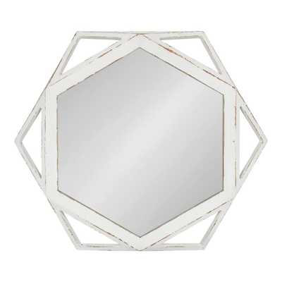 Cortland Round White Wall Mirror - Home Depot