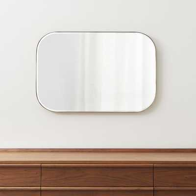 Edge Brass Rounded Rectangle Mirror - Crate and Barrel