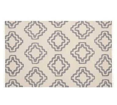 Sheldon Flatweave Rug, Ivory/Gray, 9 x 12' - Pottery Barn