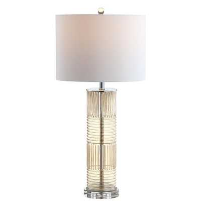 JONATHAN Y Genevieve 30 in. Champagne Glass/Crystal LED Table Lamp - Home Depot