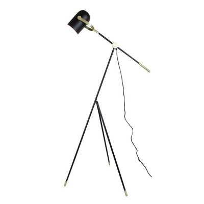 EQLight Industrial 55 in. Matt Black Floor Lamp with Tripod - Home Depot