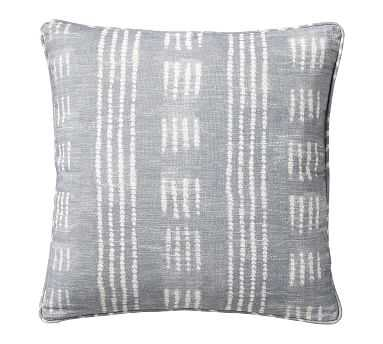 "Shibori Dot Pillow, Gray, 20"" - Pottery Barn"