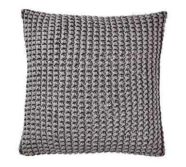 Ezra Chunky Knit Pillow, 20 Inches, Gray - Pottery Barn