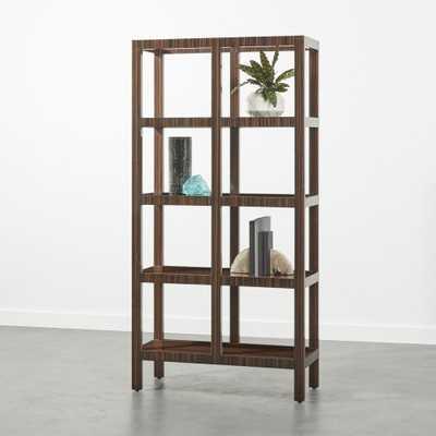 Panes Hi-Gloss Wood Bookcase - CB2
