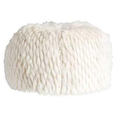 Faux-Fur Beanbag, Medium Slipcover + Insert, Llama - Pottery Barn Teen