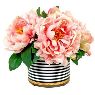 Peonies Centerpiece in Pot - AllModern
