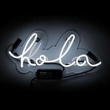Oliver Gal Hola Neon Sign - West Elm