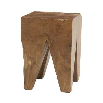 Square Teak Accent Stool - AllModern