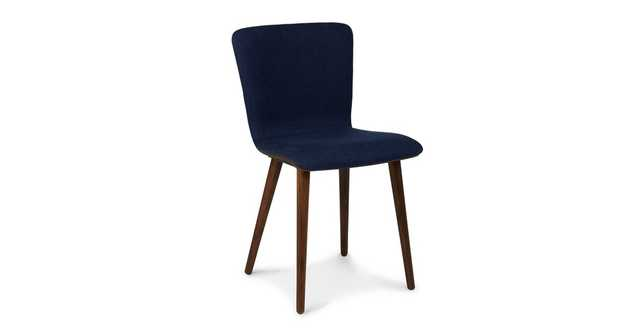 Sede Oceano Blue Walnut Dining Chair (Set of Two) - Article
