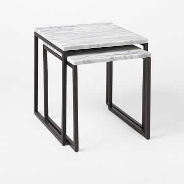 Box Frame Nesting Table, Marble Top - West Elm