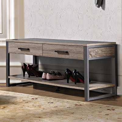 Arsdale Wood Storage Bench - Wayfair