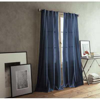 Paradox Back Tab Solid Room Darkening Curtain Panels - AllModern