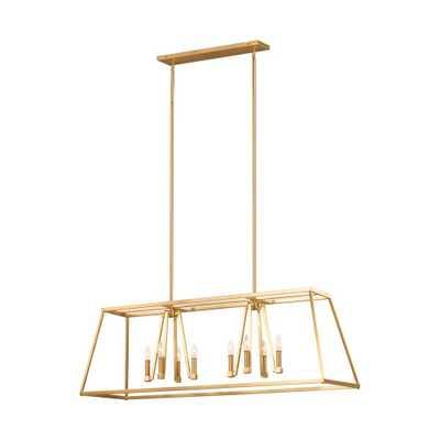 Feiss Conant 8-Light Gilded Satin Brass Chandelier - Home Depot