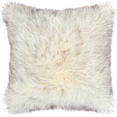 Dodge Faux Fur Solid Throw Pillow - Wayfair