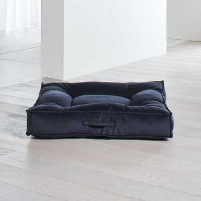 Piazza Large Shale Tufted Dog Bed - Crate and Barrel