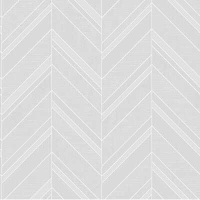 "Rayleigh Chevron 33' L x 20.5"" W Wallpaper Roll - AllModern"