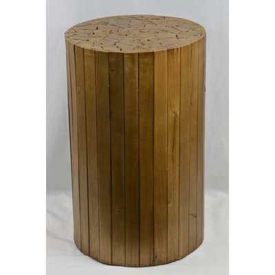 Arapaho Wood Accent Stool - Wayfair