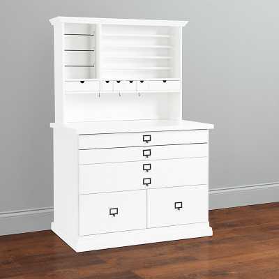 Ballard Designs Original Home Office Craft Station with Hutch - Ballard Designs