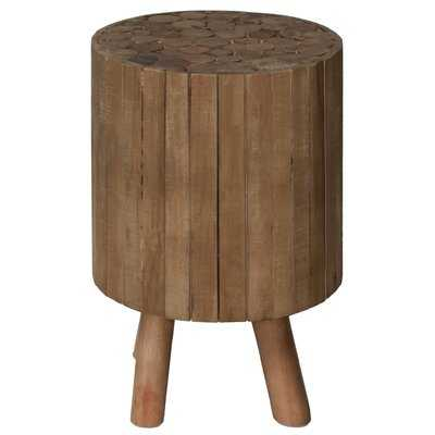 Pembroke Round Drum Wood End Table - Wayfair