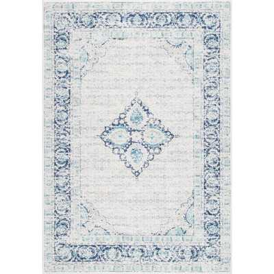 Vintage Pauley Light Blue 8 ft. x 10 ft. Area Rug - Home Depot