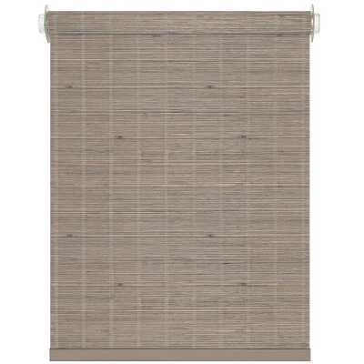 Achim Bamboo Driftwood Cordless Roller Shade - 36 in. W x 72 in. L, Brown - Home Depot