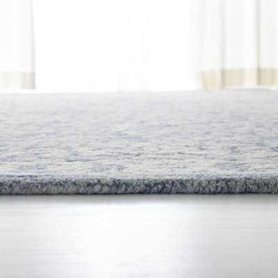 Olivier Hand-Tufted Wool Blue/Ivory Area Rug - Wayfair