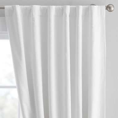 "Washed Linen Blackout Drape, 96"", Ivory - Pottery Barn Teen"