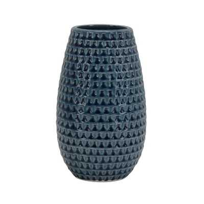 Nalani Hammered Ceramic Table Vase - Wayfair
