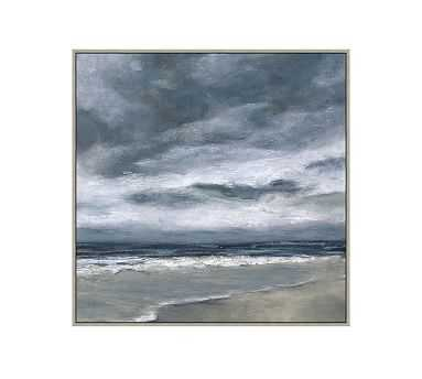 "Sea Meditation Framed Canvas, 31"" x 31"" - Pottery Barn"