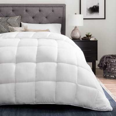 Down Alternative Reversible Quilted King Comforter in White - Home Depot