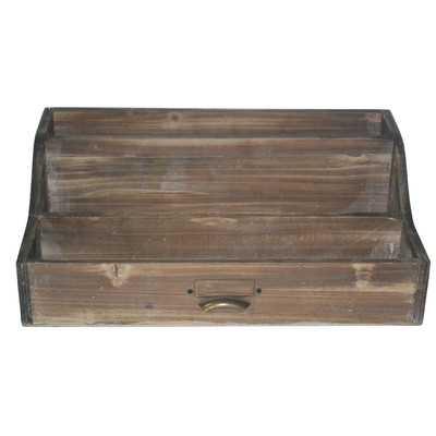 3 Slot Wood Office Organizer - Wayfair