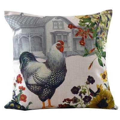 Hen and Farmhouse Throw Pillow Cover - Wayfair